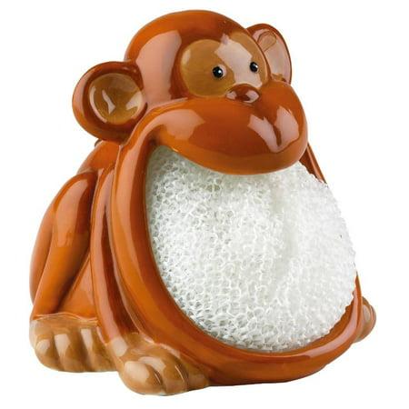 Boston Warehouse Monkey Ape Chimp Animal Kitchen Bath Soap Dish Scrubby Holder
