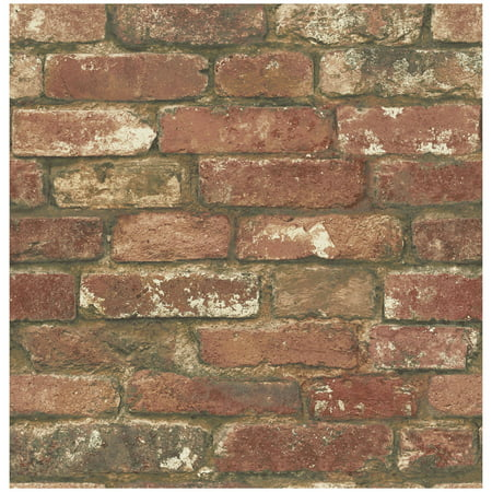 West end brick peel and stick wallpaper for Peel and stick wallpaper walmart
