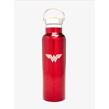Wonder Woman Vacuum Stainless Steel Insulated Water Bottle (20 OZ). Double Walled Construction. Zero Condensation! Ladies Stainless Steel Water