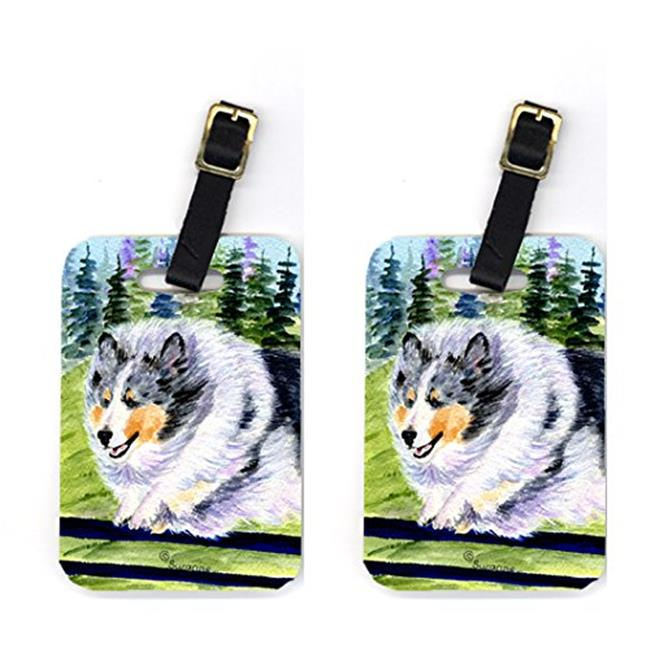 Carolines Treasures SS8305BT Pair of 2 Sheltie Luggage Tags - image 1 of 1