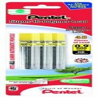 Pentel Super Hi-Polymer Lead Refill 0.9mm, HB, 45 Pieces of Lead (L509BP3HB-K6)