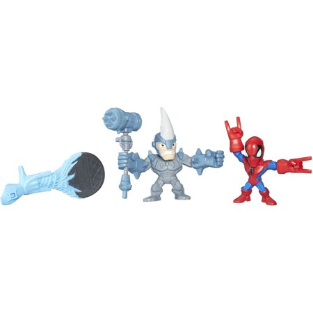 Marvel Super Hero Mashers Micro Spider-Man and Marvel's Rhino 2 Pack](Super Heero)