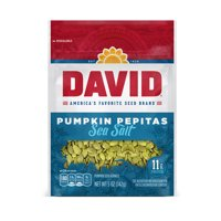 DAVID Sea Salt Pumpkin Pepitas Seeds 5-oz. Resealable Bag