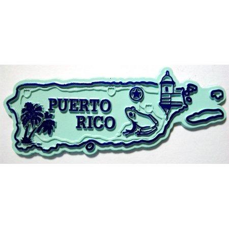 - Puerto Rico United States Territory Map Fridge Magnet