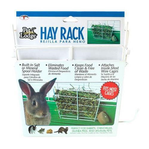Pet Lodge Hay Rack White