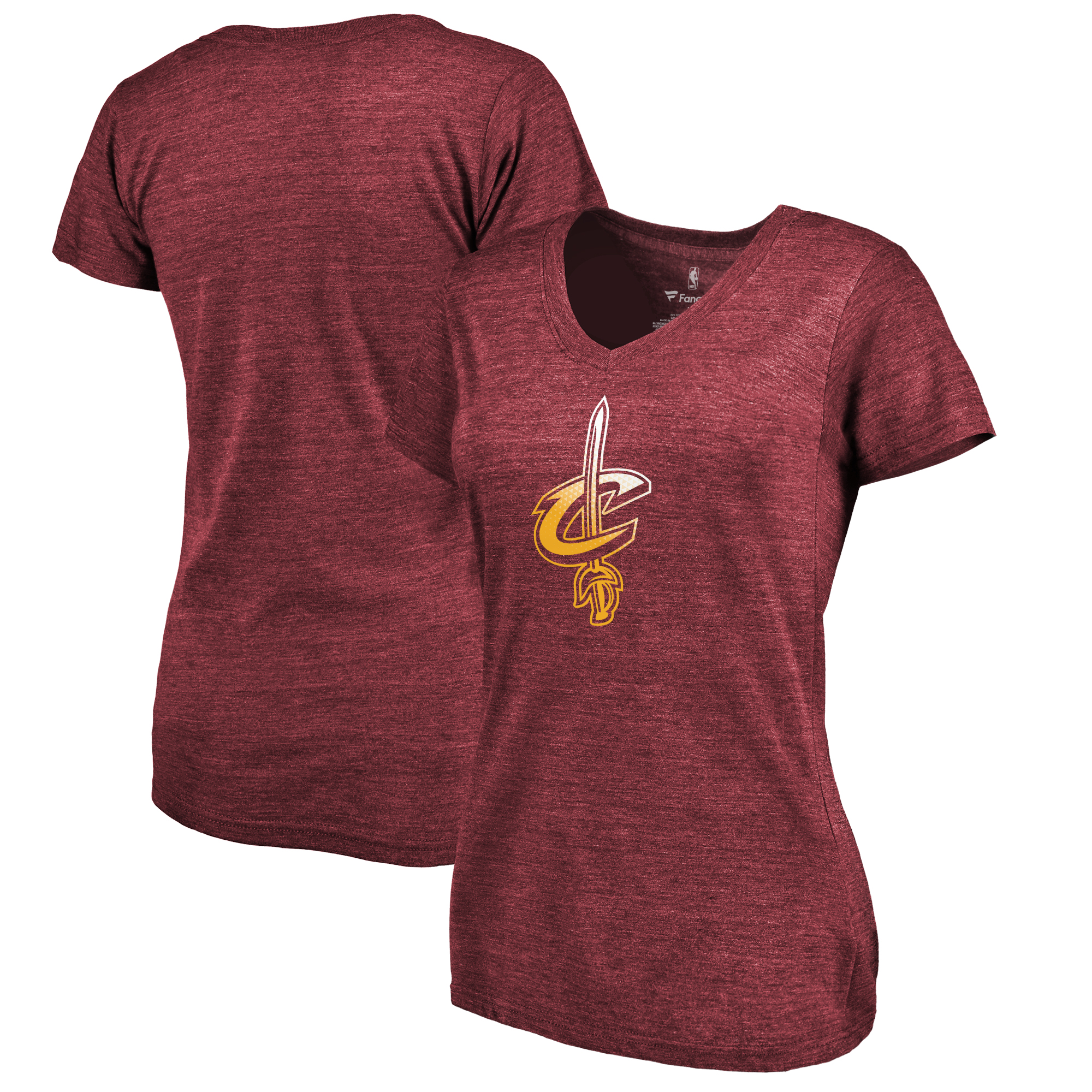 Cleveland Cavaliers Fanatics Branded Women's Gradient Logo Tri-Blend T-Shirt - Maroon