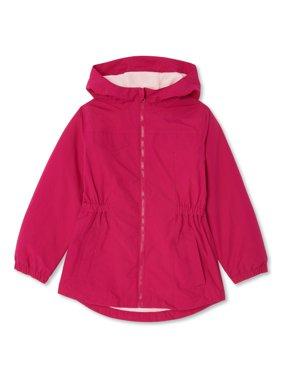 Wonder Nation Girls Anorak Rain Jacket, Sizes 4-18 & Plus