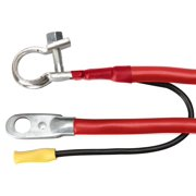 """Coleman Cable 42-4LR 42"""" Red 4 Gauge Battery Cable With Lead Wire"""