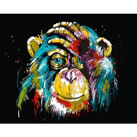 Electronicheart Colorful Animal Digital Oil Painting DIY Canvas Painting Wall Oil Picture for Home Living Room Bedroom - image 6 of 8