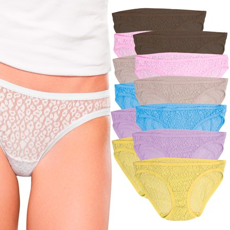 a5c2e6601f159 Fruit of the Loom - Fruit Of The Loom (12 Pack) Lace Bikini Panties For  Women Underwear No Panty Line Stretch Panties - Walmart.com
