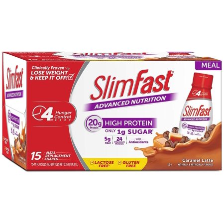 Image of Advanced Energy Caramel Latte Ready to Drink 1Pack (15 pk Each), Advanced meal replacement shake By SlimFast
