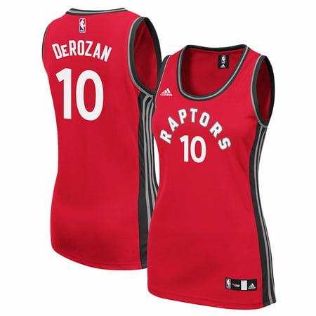 Custom Replica Away Jersey - DeMar DeRozan Toronto Raptors NBA Adidas Red Official Away Road Replica Jersey For Women