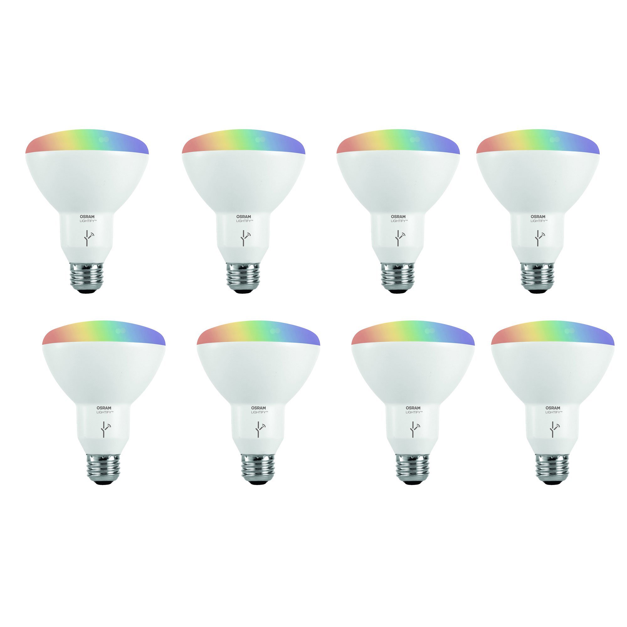 Sylvania Osram Lightify Smart Home 65W BR30 White/ Color LED Light Bulb (8 Pack)