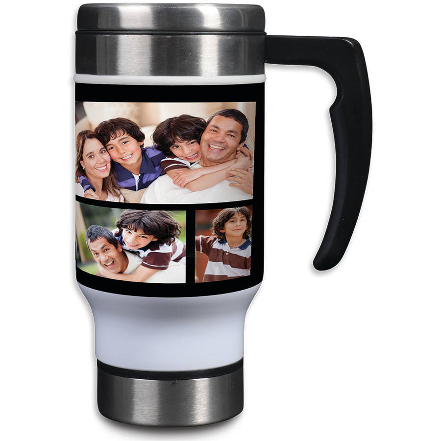 Stainless Steel Photo Collage Travel Mug, 14 oz
