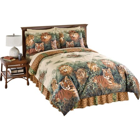 Wildcats Exotic Jungle Comforter Set With Bedskirt King Multi