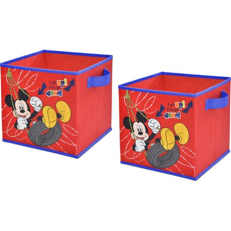 Disney Mickey Mouse 2 Pack Storage Cube