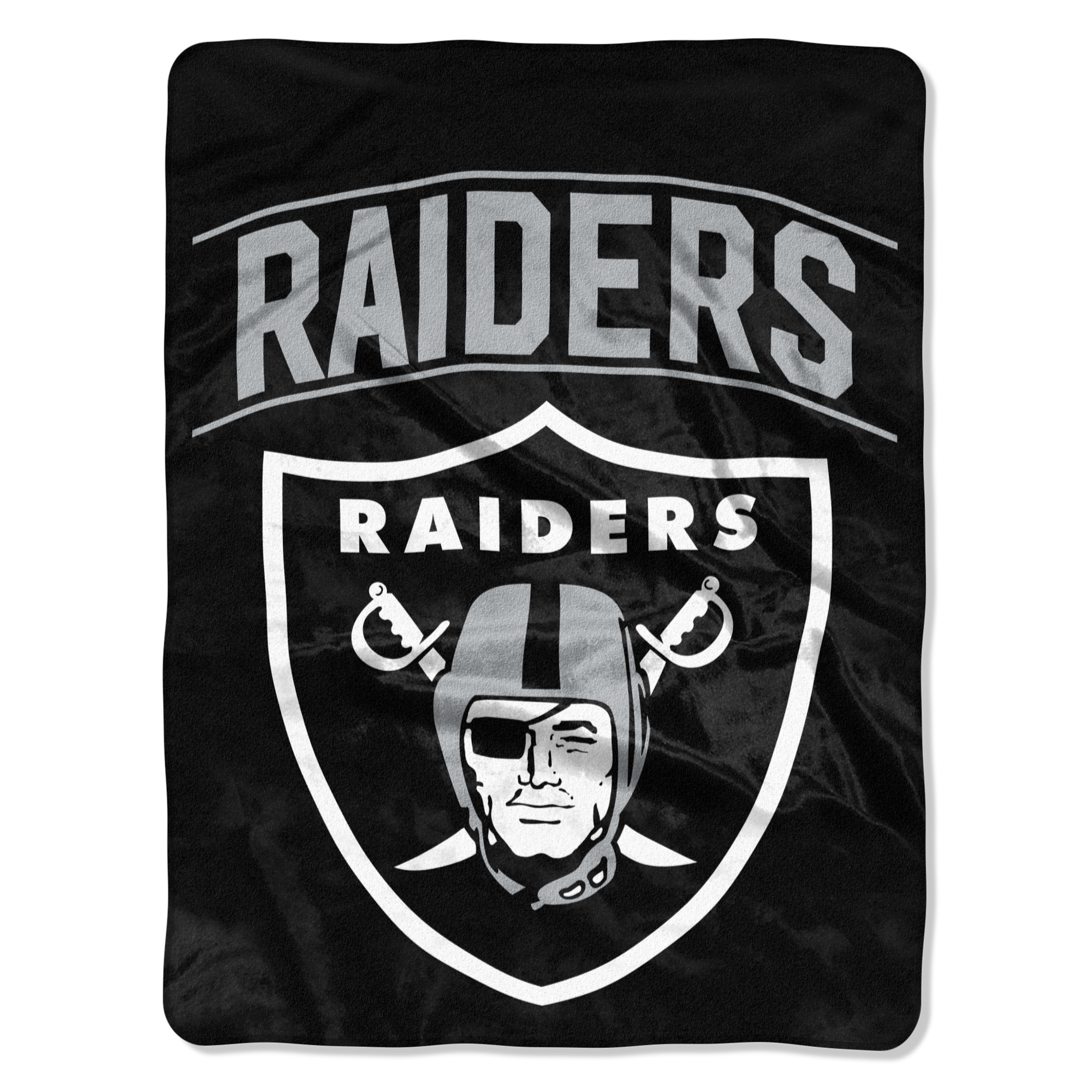 """Oakland Raiders The Northwest Company Strong Side 60"""" x 80"""" Raschel Throw Blanket - No Size"""