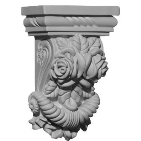 5.25 in. W x 2.75 in. D x 8.12 in. H Architectural Rose Corbel - image 1 de 1