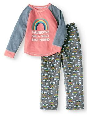 ad6a6a9ab2008 Product Image Girls  Rainbow BFF 2-Piece Pajama Sleep Set