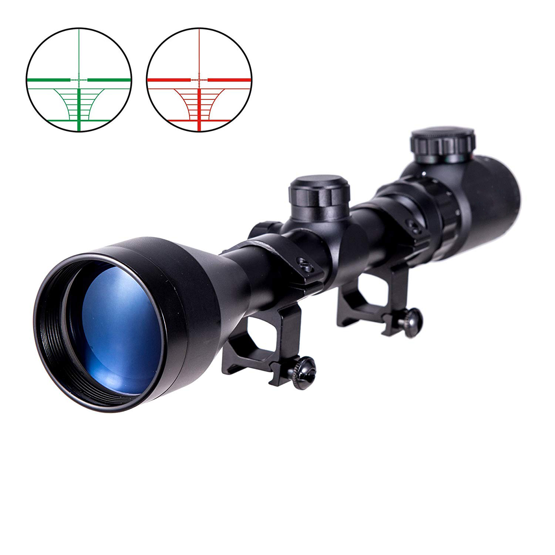 Cvlife 3-9X50 E Mil-dot Illuminated Red & Green Hunting Rifle Scope Optical Gun scope