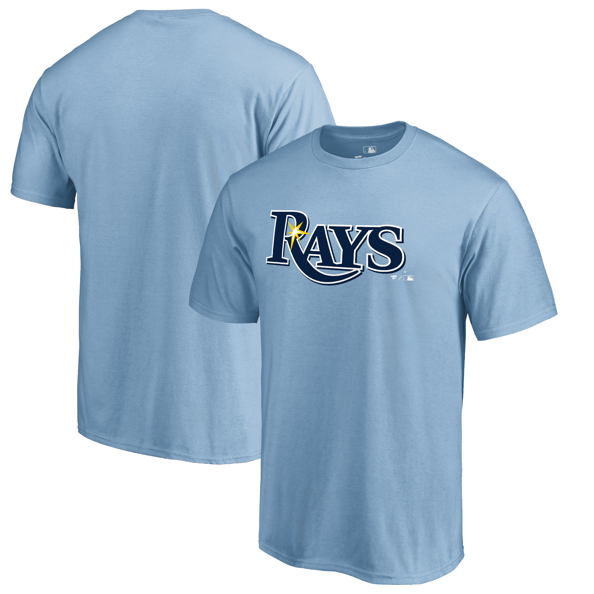 Tampa Bay Rays Fanatics Branded Team Wordmark T-Shirt - Light Blue