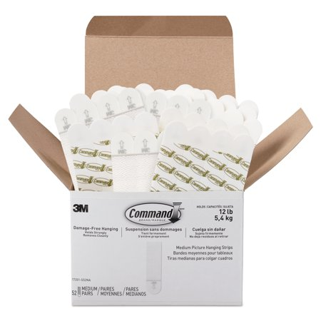Command Picture Hanging Strips Value Pack Removable 0 75 x 2 75 White