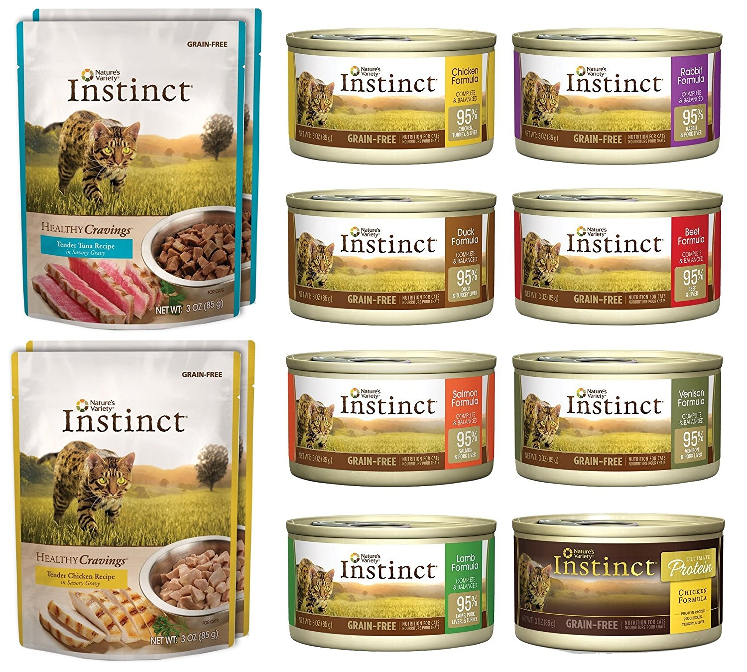 Nature's Variety Instinct 12 Pack Sampler Box 8 Total Cans (Beef, Duck, Lamb,Chicken,... by Nature's Variety