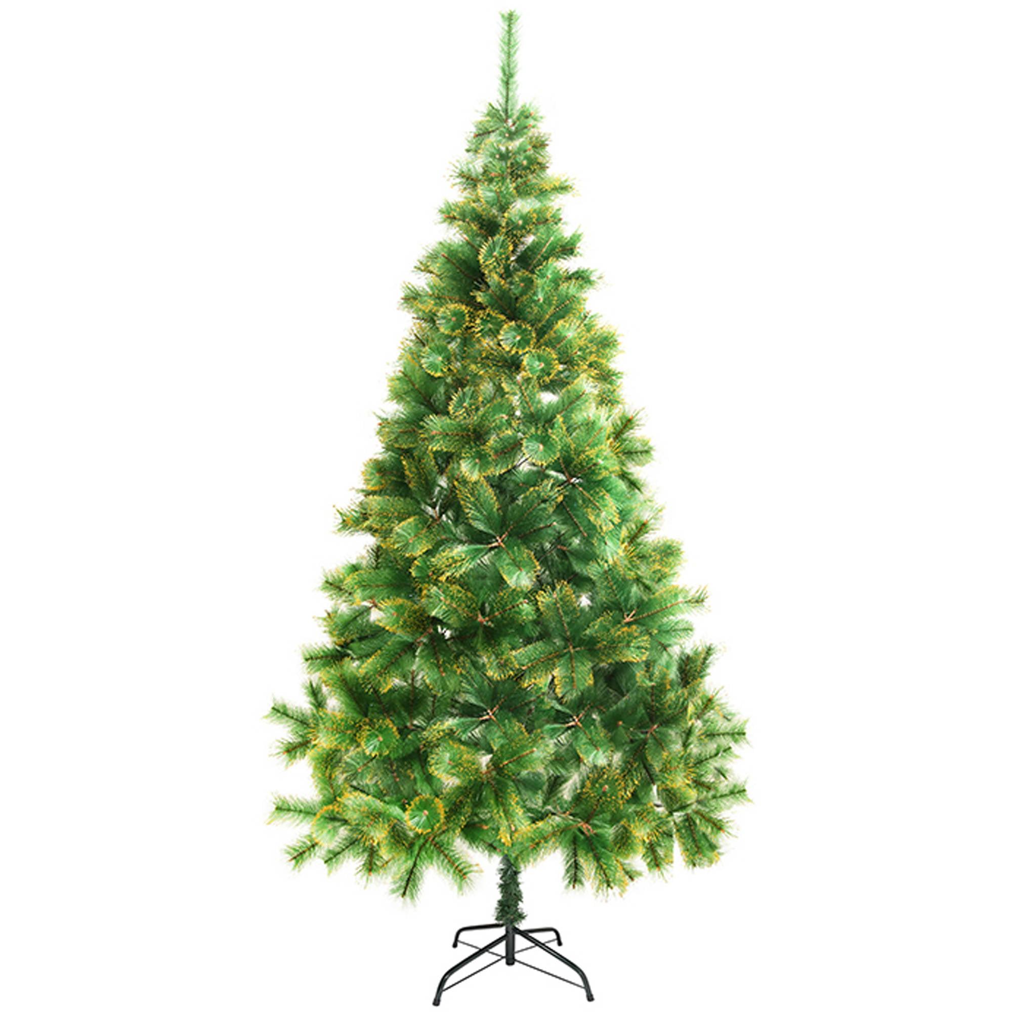 ALEKO CT83H14 Artificial Christmas Tree, 6.8', Green