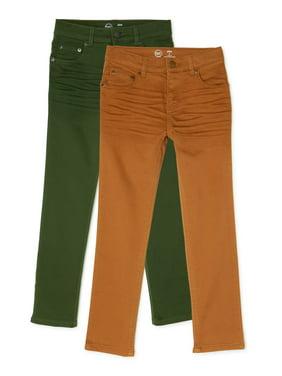Wonder Nation Boys Slim Knit Denim Jeans, 2-Pack, Sizes 4-18 & Husky