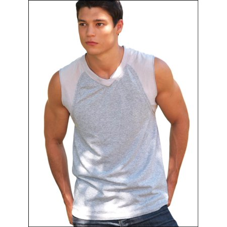 Kavio MJC0292X Guys 2XL Muscle Tank Silicon (50's Clothing For Guys)