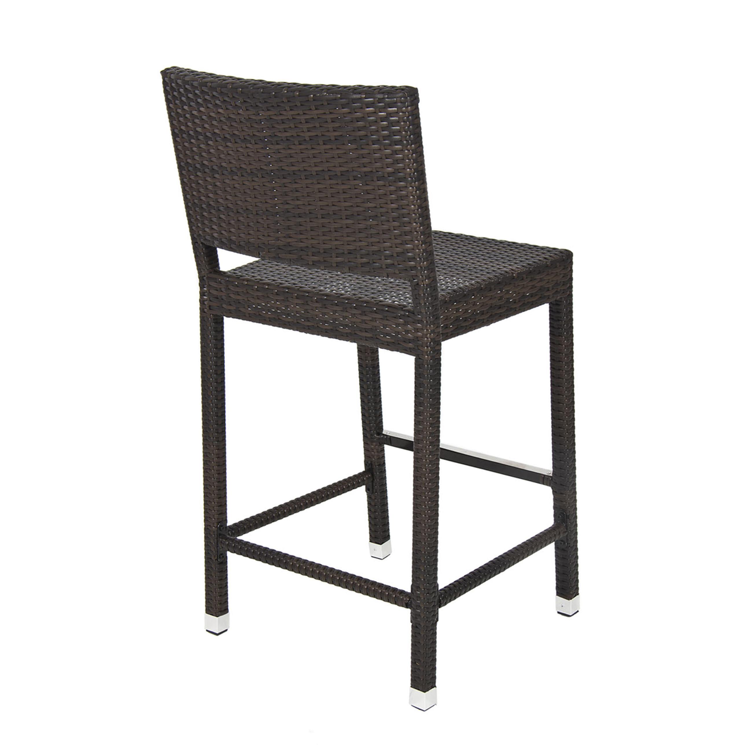 Best Choice Products Outdoor Wicker Barstool All Weather Brown Patio Furniture New Bar Stool