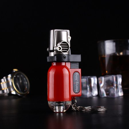 Windproof Trip Torch Turbo Jet Butane gas Cigarette Cigar pipe Lighter Cigarette Accessories Random