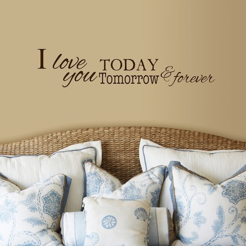 Fireside Home I Love You Today, Tomorrow and Forever Wall Decal