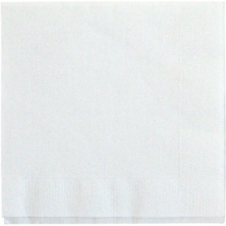 Paper Cocktail Napkins, 5 in, White, - Thanksgiving Paper Cocktail Napkin