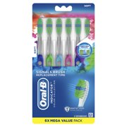Oral-B Indicator Color Collection Manual Toothbrush, Soft, 6 Count