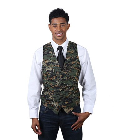 Men's Dark Camouflage Pattern Cotton Full Back (Camouflage Mens Vest)
