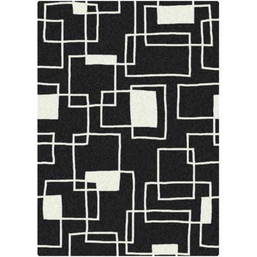 Milliken Offbeat  Box Black/White Area Rug