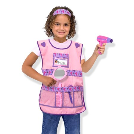 Melissa & Doug Hair Stylist Role Play Costume Dress-Up Set (7 pcs) (Chest Hair Costume)