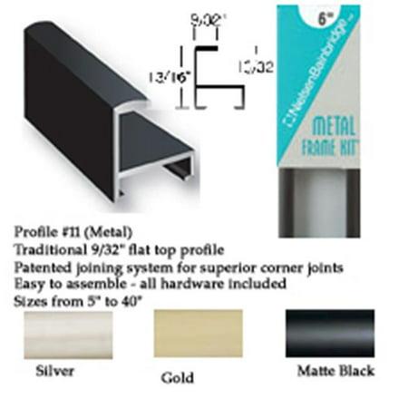 Nielsen Bainbridge F128-21 Matte Black Aluminum Frame Kit - 28 In ...