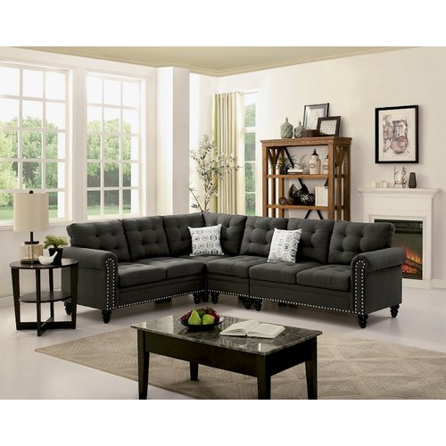 Alcott Hill Schell Reversible Sectional