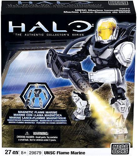 Halo Magnetic Figures UNSC Flame Marine Set Mega Bloks 29679 [Silver] by Mega Brands