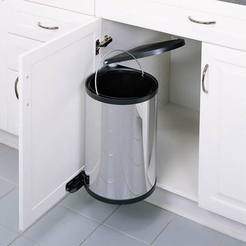 Rev-A-Shelf R8-010314-15 15 Liter Pivot-Out Waste Container - Stainless Steel