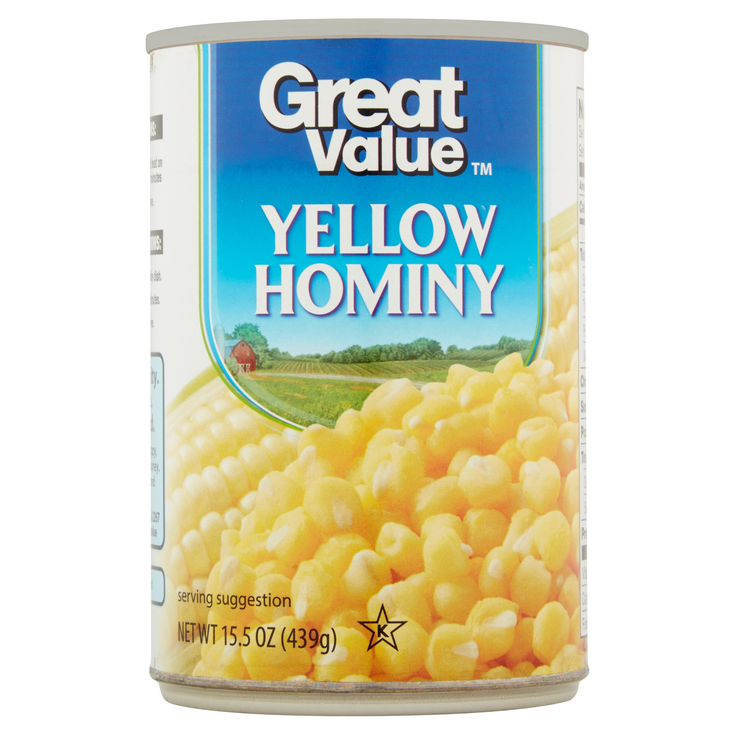 Wal - Mart Stores, Inc. Great Value Yellow Hominy, 15.5 oz