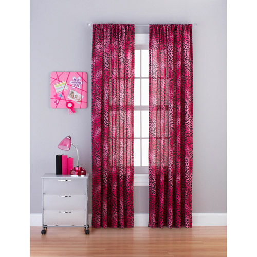 "your zone crushed cheetah 84"" tailored curtain panel"