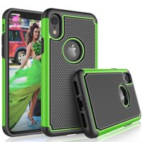"Tekcoo For iPhone XS Max Case / (6.5"") iPhone XS Max Cute Case, [Tmajor] Shock Absorbing [Turquoise] Rubber Silicone & Plastic Scratch Resistant Bumper Grip Sturdy Hard Cases Cover"