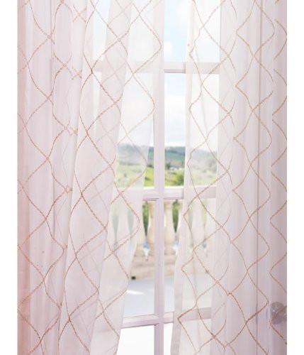 Half Price Drapes Vita Embroidered Sheer Single Curtain Panel