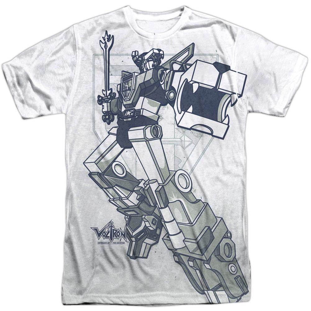 Voltron Distressed Defender Licensed Adult T Shirt