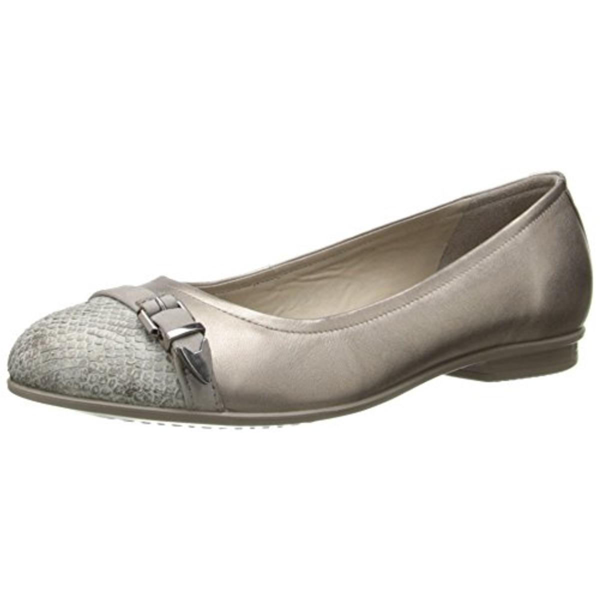 ECCO Womens Leather Slip On Flats by Ecco