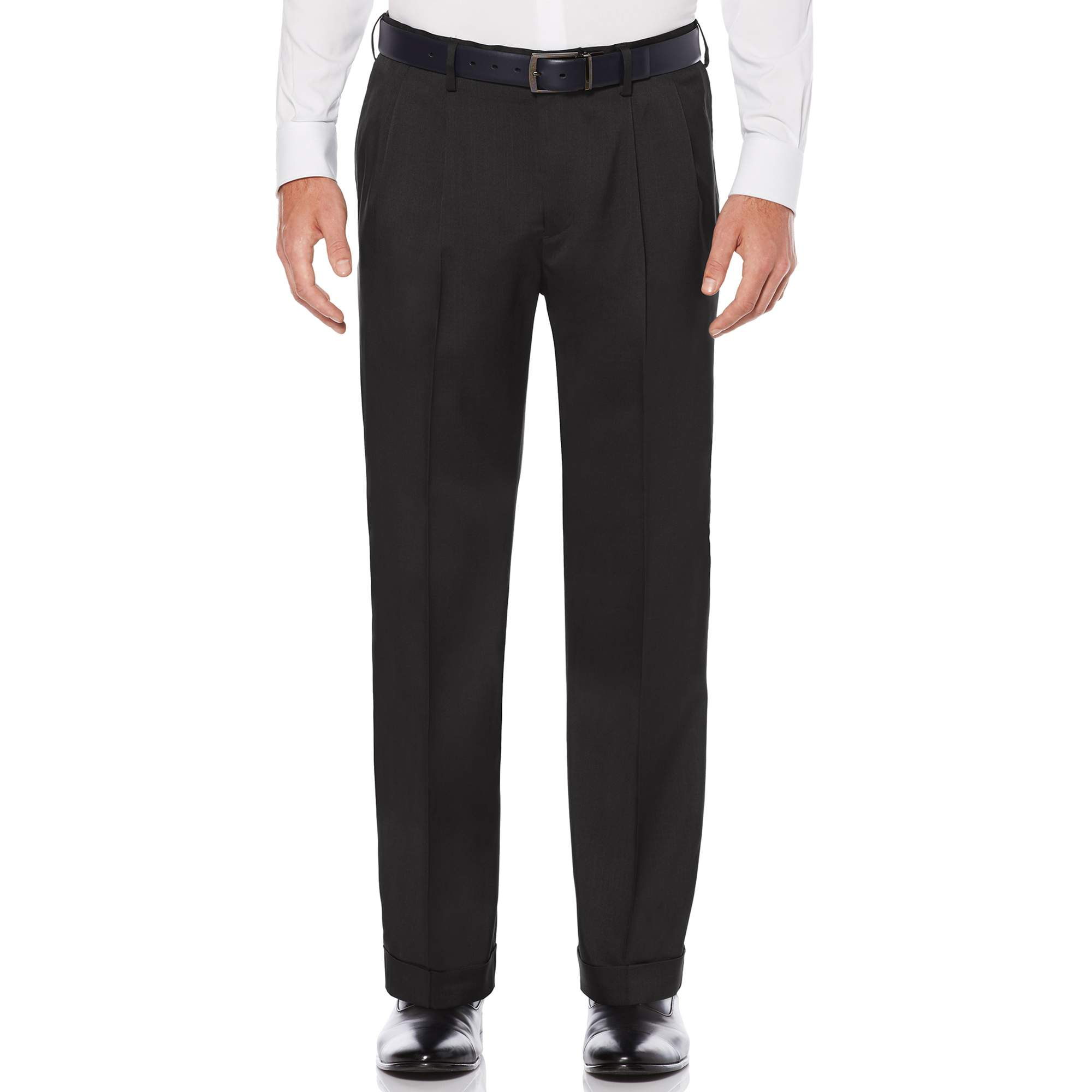 Pleated Stretch Crosshatch Dress Pant