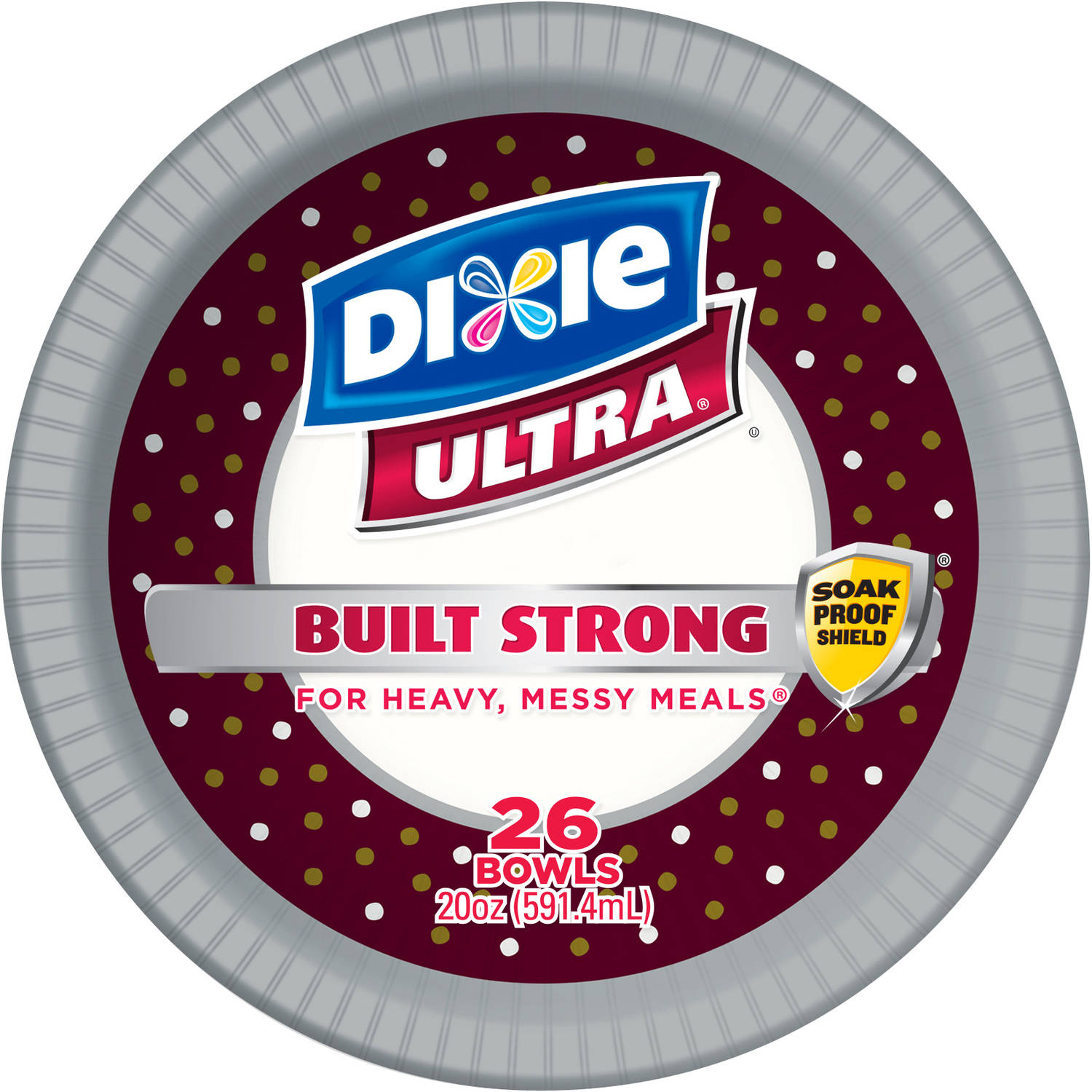 Dixie Ultra Paper Bowl, 20 oz, 26 count